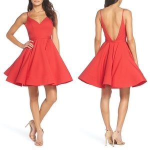 NEW Ieena Mac Duggal RED Fit & Flare Party Dress 8